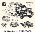 vintage truck delivery theme on ... | Shutterstock .eps vector #154028468