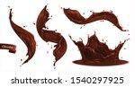 chocolate splashes set of... | Shutterstock .eps vector #1540297925