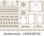vintage floral ornaments.... | Shutterstock .eps vector #1540298732