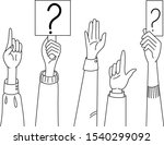 vector hands are raised up....   Shutterstock .eps vector #1540299092