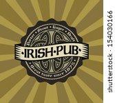retro styled label of beer.... | Shutterstock .eps vector #154030166