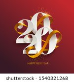 new years 2020. greeting card... | Shutterstock .eps vector #1540321268