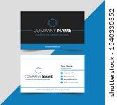 creative business card template ... | Shutterstock .eps vector #1540330352