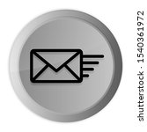 Email Option Icon Metal Silver...