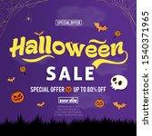halloween sale promotion banner ... | Shutterstock .eps vector #1540371965