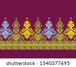 indonesian batik songket... | Shutterstock .eps vector #1540377695