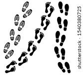 footsteps icon set. shoes...   Shutterstock .eps vector #1540380725