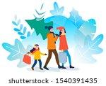 family preparing for christmas... | Shutterstock .eps vector #1540391435