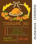 thanksgiving day | Shutterstock .eps vector #154040342