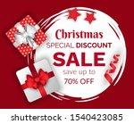 christmas sale vector ... | Shutterstock .eps vector #1540423085