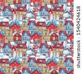 watercolor seamless pattern... | Shutterstock . vector #1540424618