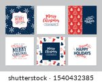 merry christmas square cards... | Shutterstock .eps vector #1540432385