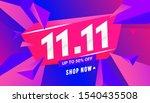 11.11 special offer sale banner ... | Shutterstock .eps vector #1540435508