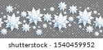 decoration with snowflakes on... | Shutterstock .eps vector #1540459952