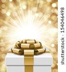 gift box and light christmas... | Shutterstock .eps vector #154046498