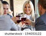 businesspeople in restaurant... | Shutterstock . vector #154053122