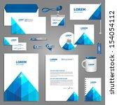 white stationery template... | Shutterstock .eps vector #154054112