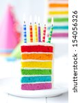 Rainbow Cake Decorated With...