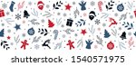 christmas icon elements border... | Shutterstock .eps vector #1540571975