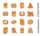 set of books or reading color... | Shutterstock .eps vector #1540575095