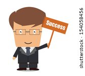 business aim for success  | Shutterstock .eps vector #154058456