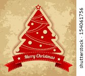 christmas tree. vintage... | Shutterstock .eps vector #154061756