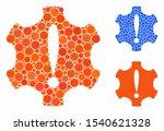 danger mosaic of round dots in... | Shutterstock .eps vector #1540621328