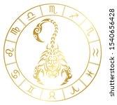 zodiac sign scorpio and circle...   Shutterstock .eps vector #1540656428