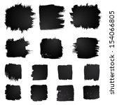 vector set of grunge squared... | Shutterstock .eps vector #154066805