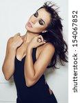 beautiful sensual young... | Shutterstock . vector #154067852