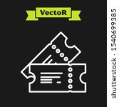 white line cinema ticket icon... | Shutterstock .eps vector #1540699385