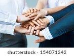 concept of teamwork. business...   Shutterstock . vector #154071242