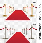 set of red carpet  golden and... | Shutterstock .eps vector #1540723772