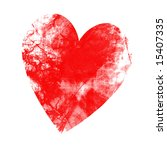 grunge heart on a solid white... | Shutterstock . vector #15407335