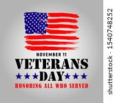 Happy Veterans Day Banner With...