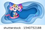 2020 new year design card with...   Shutterstock .eps vector #1540752188