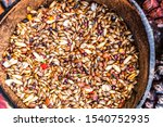 Detail Of A Bird Feeder With...