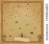 Vector Norse Fantasy Map On A...