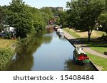 narrowboats on a nottingham... | Shutterstock . vector #15408484