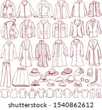 clothes. men's fashion. hand... | Shutterstock .eps vector #1540862612