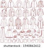 clothes. men's fashion. hand... | Shutterstock .eps vector #1540862612