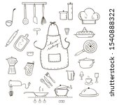 hand drawn cook's icons of... | Shutterstock .eps vector #1540888322