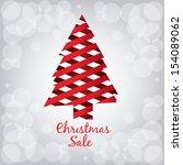 christmas design over pattern...   Shutterstock .eps vector #154089062