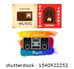 set of old vintage radio... | Shutterstock .eps vector #1540922252