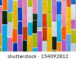 colorful glass mosaic art and... | Shutterstock . vector #154092812