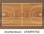wooden basketball court  ... | Shutterstock .eps vector #154094702