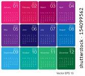 minimal design 2014 calendar... | Shutterstock .eps vector #154099562