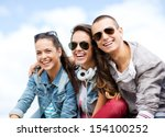 summer holidays and teenage... | Shutterstock . vector #154100252