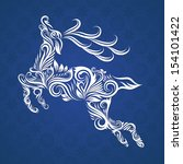 deer ornamental | Shutterstock .eps vector #154101422