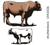 illustration of a cow. | Shutterstock .eps vector #1541026